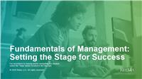 Fundamentals of Management: Setting the Stage for Success