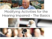 Modifying Activities for the Hearing Impaired